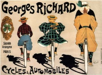 Georges Richard bicycles and automobiles advertisment poster